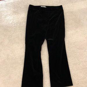 Frame black bootleg crop velvet pants